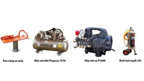 Kinh nghiệm lựa chọn thiết bị bộ dụng cụ rửa xe cho tiệm rửa xe máy chuyên nghiệp