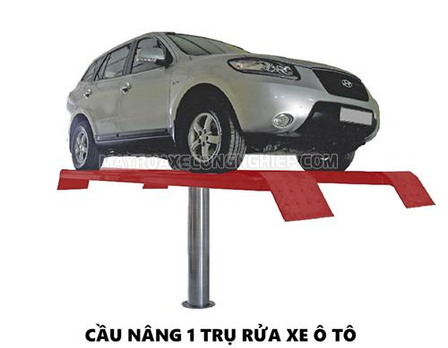 Cầu nâng 1 trụ phục vụ cho việc xịt rửa xe