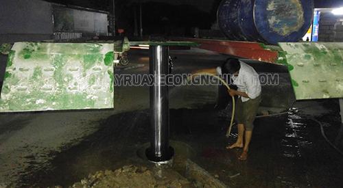 Thi công tiệm rửa xe cho anh Đại ở Lâm Đồng