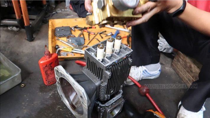 Sửa chữa lại động cơ máy rửa xe cao áp