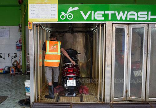 Hệ thống rửa xe máy tự động Vietwash