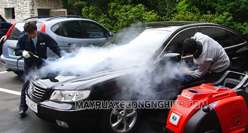 Máy rửa xe hơi nước nóng cho hiệu quả làm sạch cao, bảo vệ động cơ tốt
