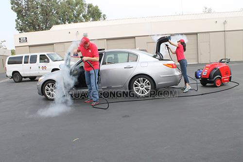 Máy rửa xe nước nóng là dòng thiết bị rửa xe công nghệ cao siêu sạch