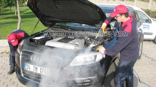 Máy rửa xe hơi nước nóng được ứng dụng rộng rãi hiện nay