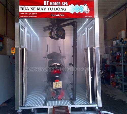 Đầu tư hệ thống rửa xe máy tự động là lựa chọn khôn ngoan hiện nay