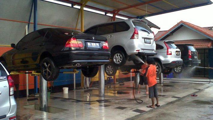cầu nâng 1 trụ V-jet QJS-V5 rửa xe ô tô