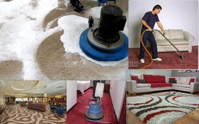 Quy trình giặt thảm công nghiệp
