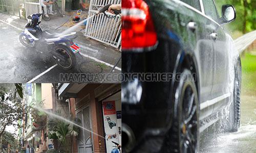 Máy rửa xe mini giúp vệ sinh chuồng trại nhanh chóng