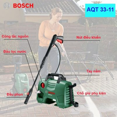 Máy rửa xe min gia đình Bosch