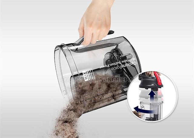 Vệ sinh máy hút bụi thường xuyên