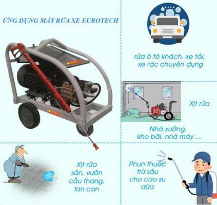 Máy rửa xe eurotech với nhiều ứng dụng hữu ích
