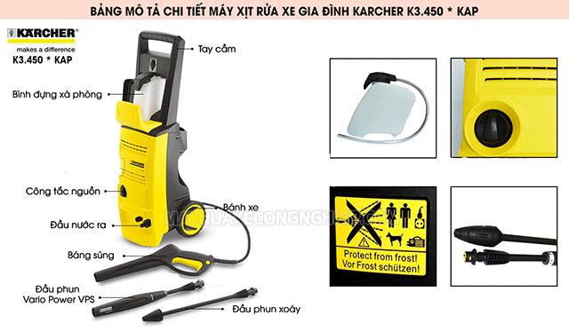 Máy xịt rửa cao áp Karcher K3 450