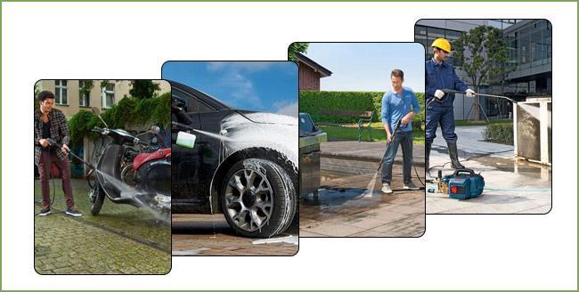 Máy rửa xe mini có nhiều tiện ích nên rất được ưa chuộng