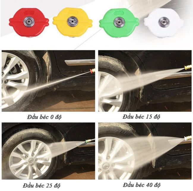 Điều chỉnh áp lực nước máy rửa xe bằng béc phun