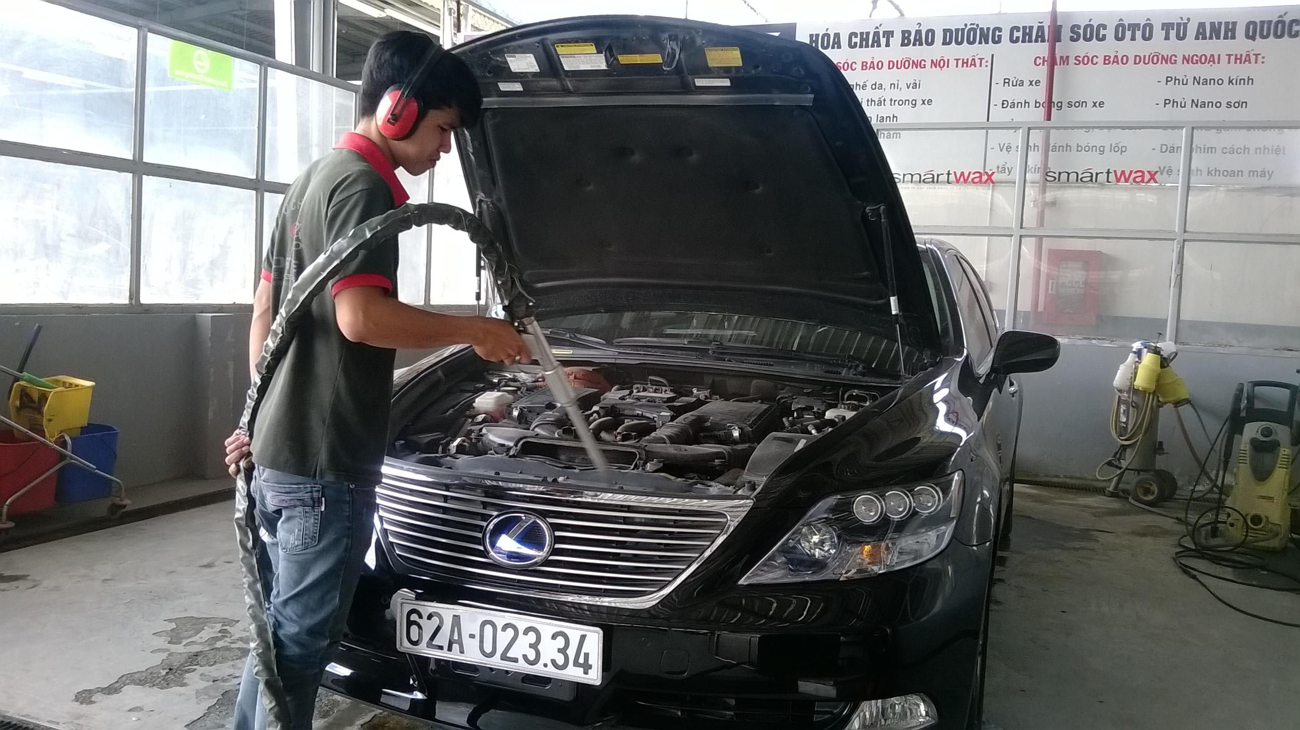 Mô hình rửa xe ô tô chuyên nghiệp