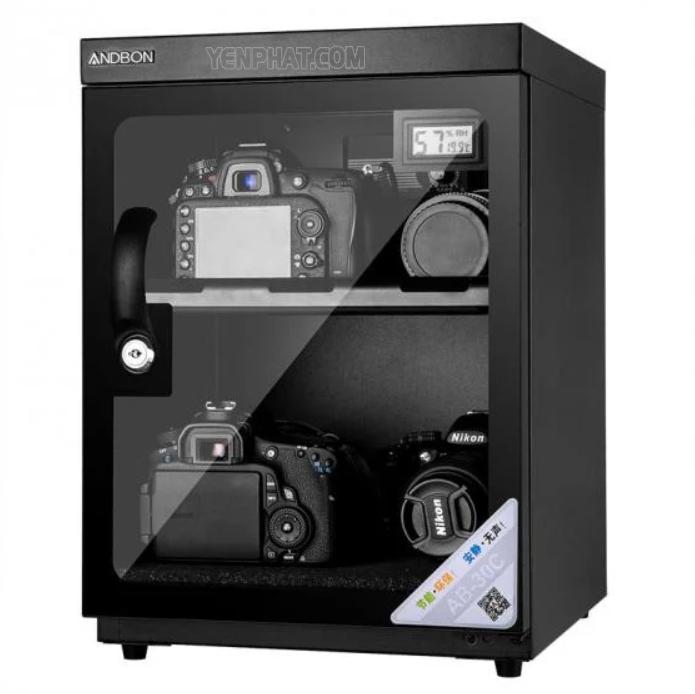 Tủ chống ẩm máy ảnh AB-30C có cánh cửa kính 2 lớp chống xước