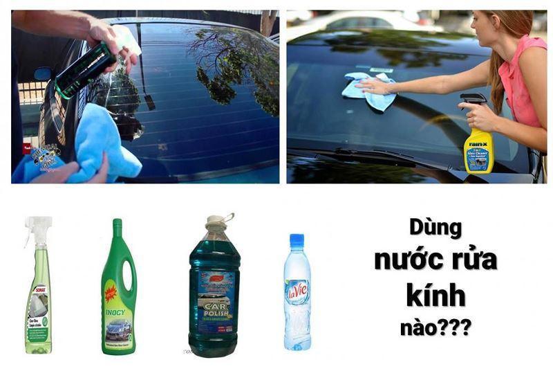 Một số loại nước rửa kính ô tô