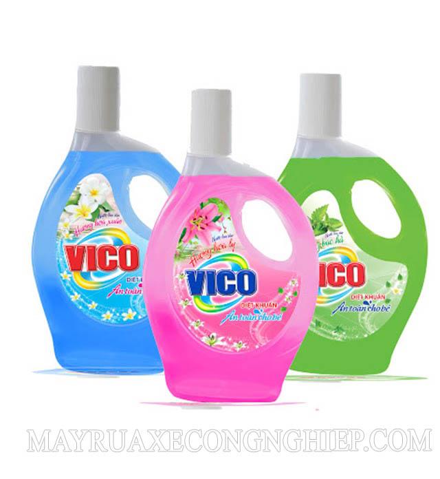 Nước lau sàn Vico với 3 mùi hương để khách hàng lựa chọn